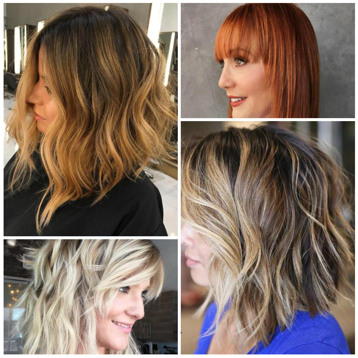 Medium Bob Hairstyles – Hairstyle For Women & Man In One Length Balayage Bob Hairstyles With Bangs (View 17 of 20)