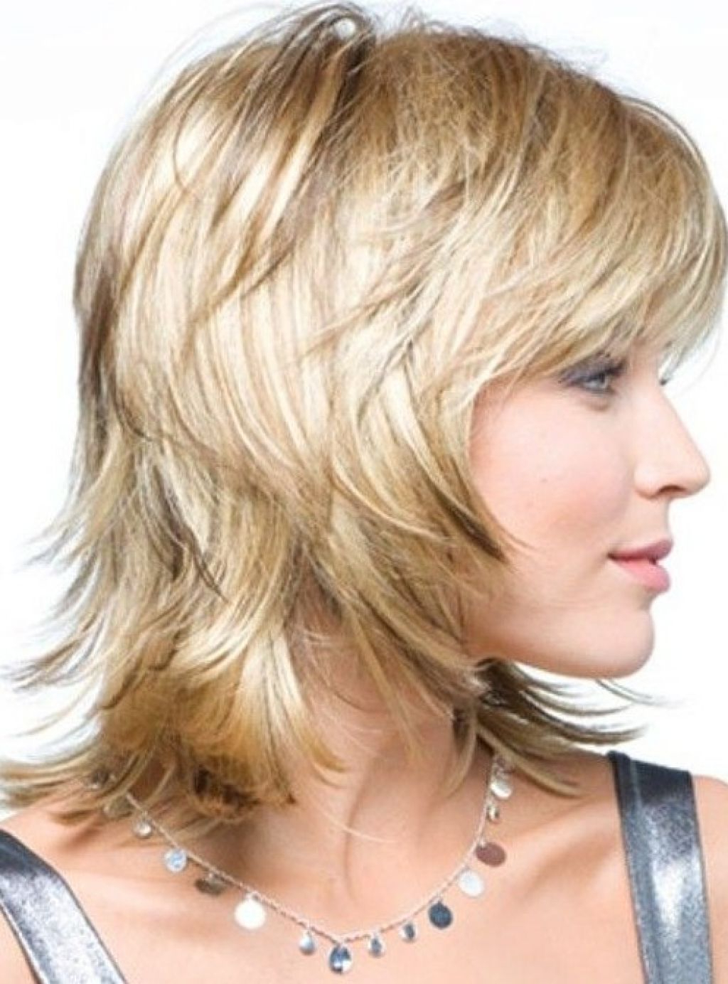 Medium Hairstyles To Make You Look Younger | Womens Hairstyles In Pure Blonde Shorter Hairstyles For Older Women (View 4 of 20)