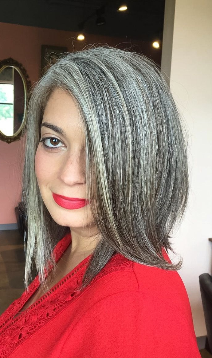 Natural Grey Hair. Salt And Pepper Hair Colour (View 6 of 20)
