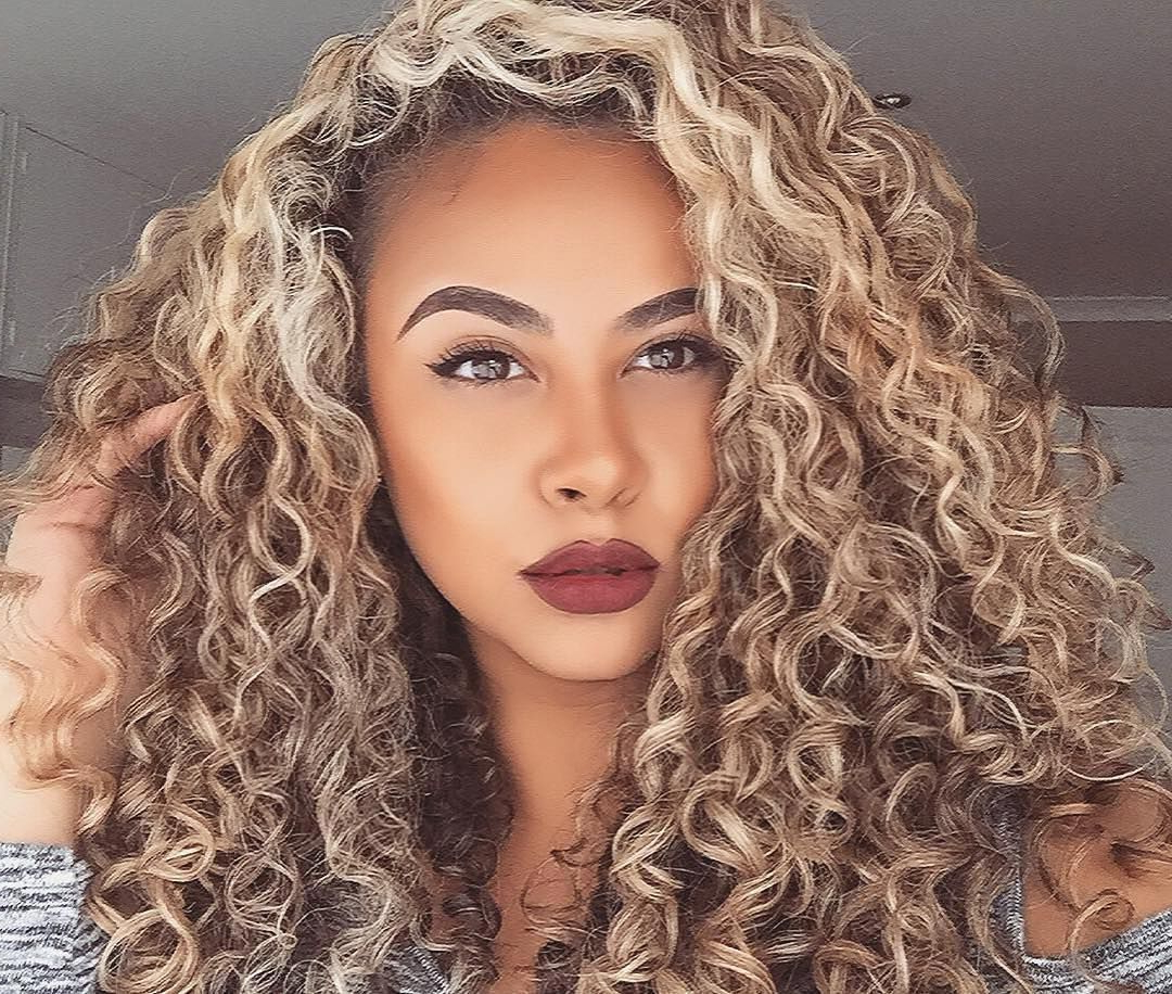 Pincourtney Mcneill On Sexy Long Curly Hairstyles In 2018 Throughout Playful Blonde Curls Hairstyles (View 14 of 20)