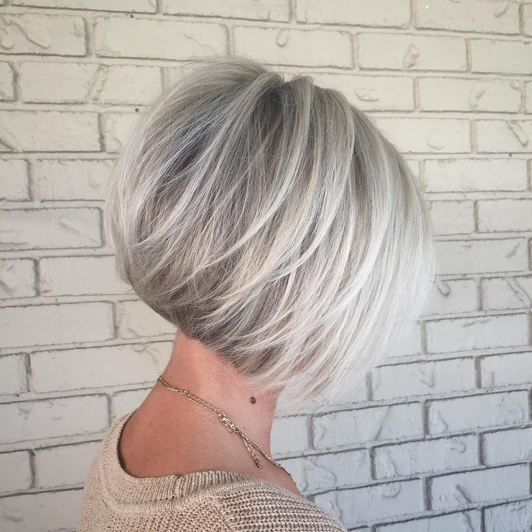 Pincrystal Hinkel On Hair Love!!! In 2018 | Pinterest | Hair Pertaining To Gray Bob Hairstyles With Delicate Layers (View 18 of 20)