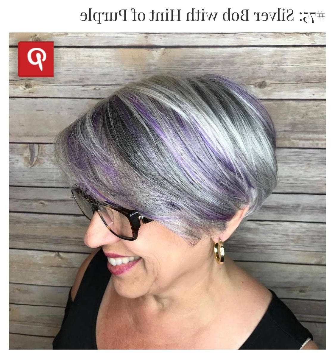 Pinellen Robak On Hair | Pinterest For Silver Bob Hairstyles With Hint Of Purple (View 15 of 20)