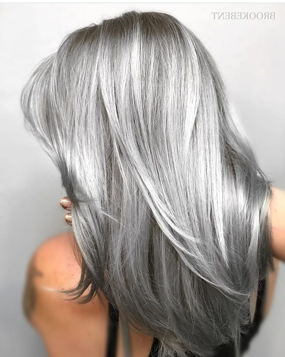 Pinfuckyouthunder On Hair In 2018 | Pinterest | Hair, Silver Intended For Gray Hairstyles With High Layers (View 17 of 20)