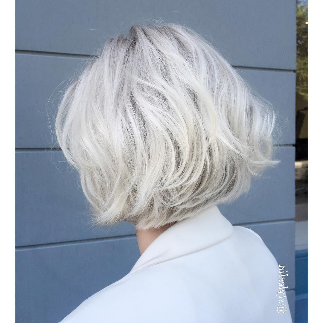 Pinlana Miers On New Hairstyles | Pinterest | Hair, Hair Styles With Gray Bob Hairstyles With Delicate Layers (View 19 of 20)
