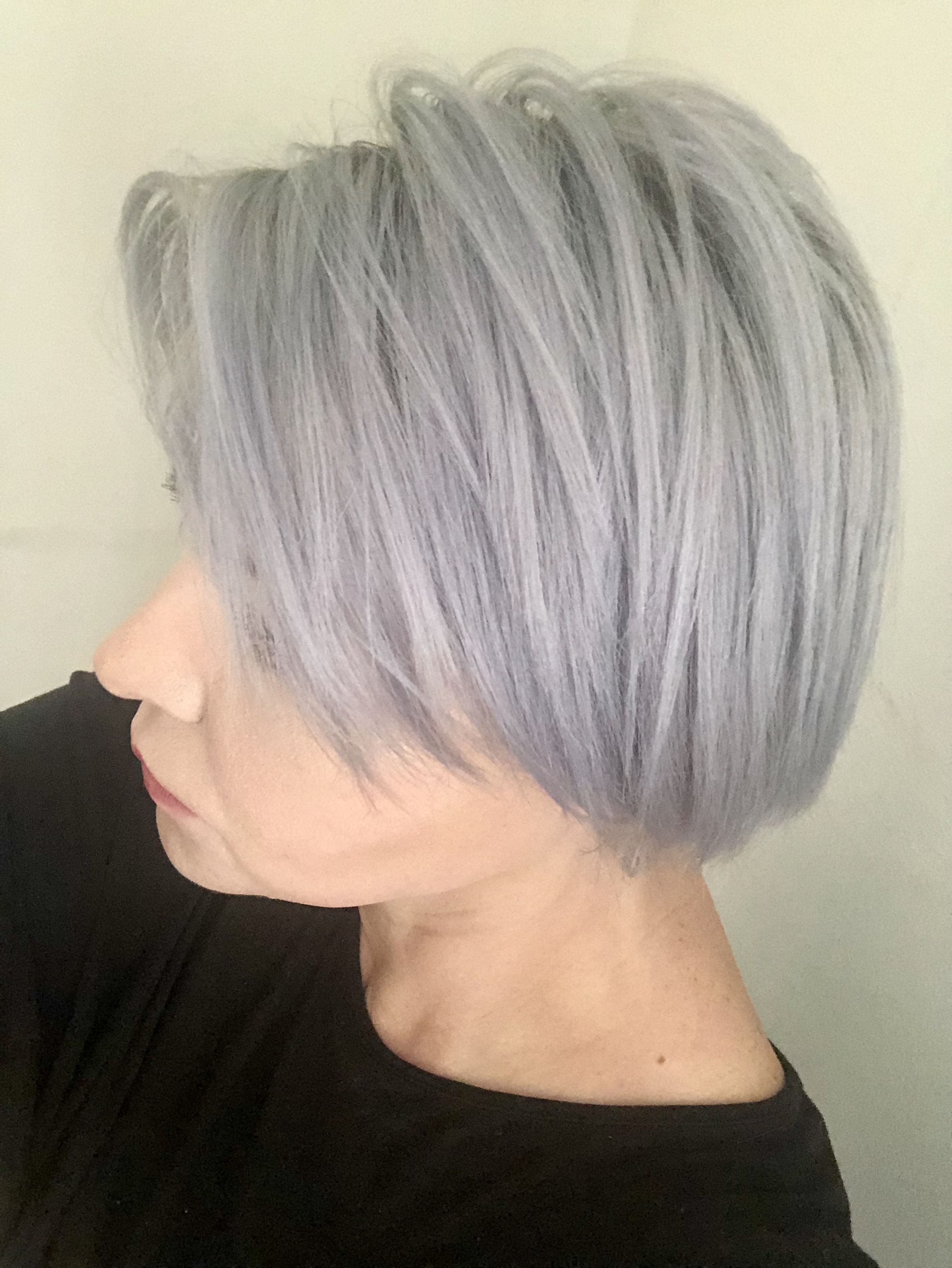 Pinstanislava Natale On Grey Silver Hair | Pinterest | Bob Hair Throughout Wispy Silver Bob Hairstyles (View 17 of 20)