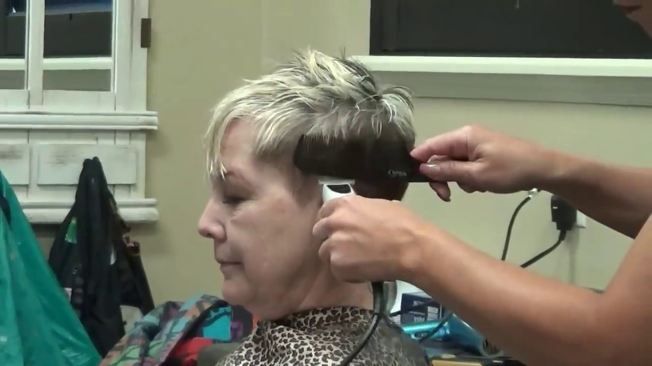 Pixie Haircut) Older Women Short Hairstyles – Youtube With Pixie Undercut Hairstyles For Women Over (View 13 of 20)