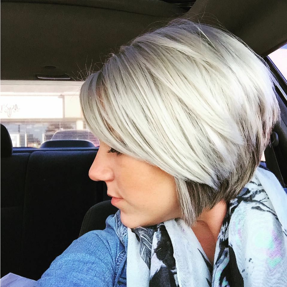Platinum With A Hint Of Dark Highlights Underneath | Hairdos In 2018 Intended For Short Ruffled Hairstyles With Blonde Highlights (View 6 of 20)