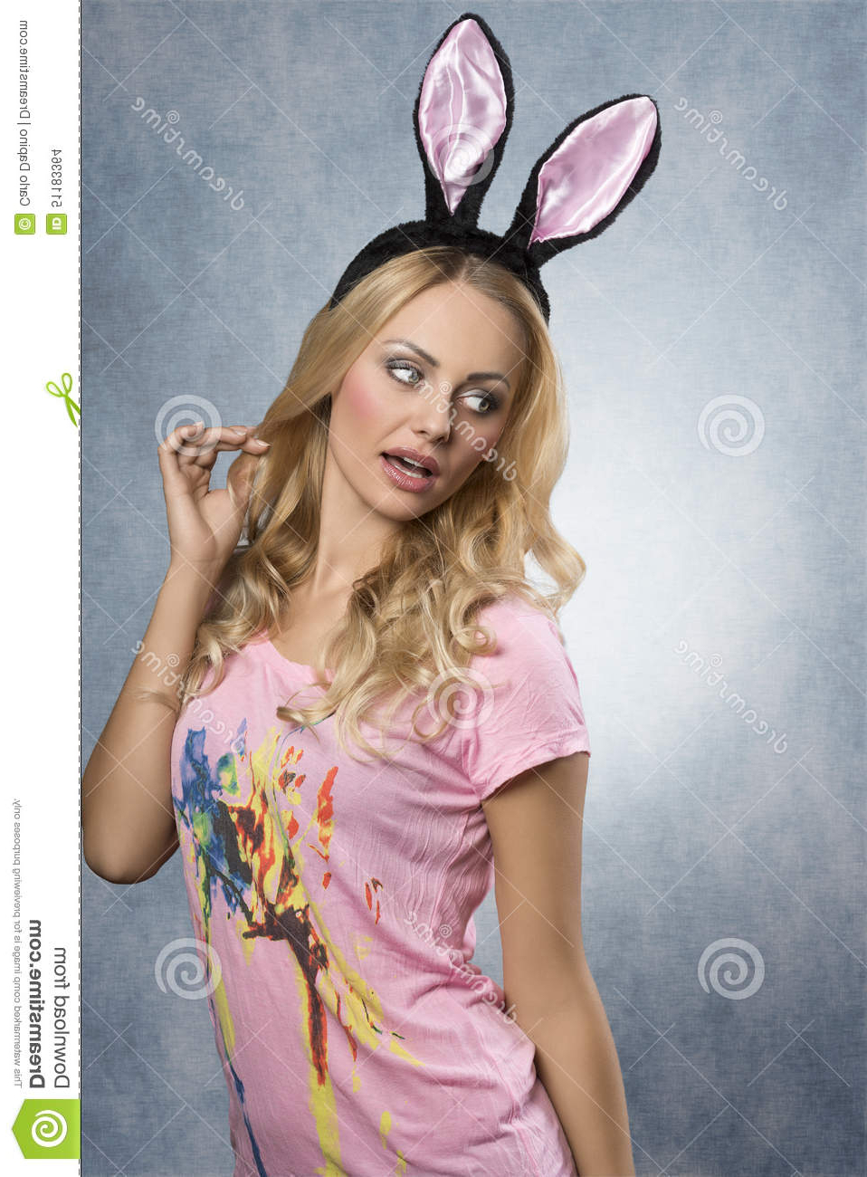 Pretty, Blonde Rabbit Stock Photo (View 16 of 20)