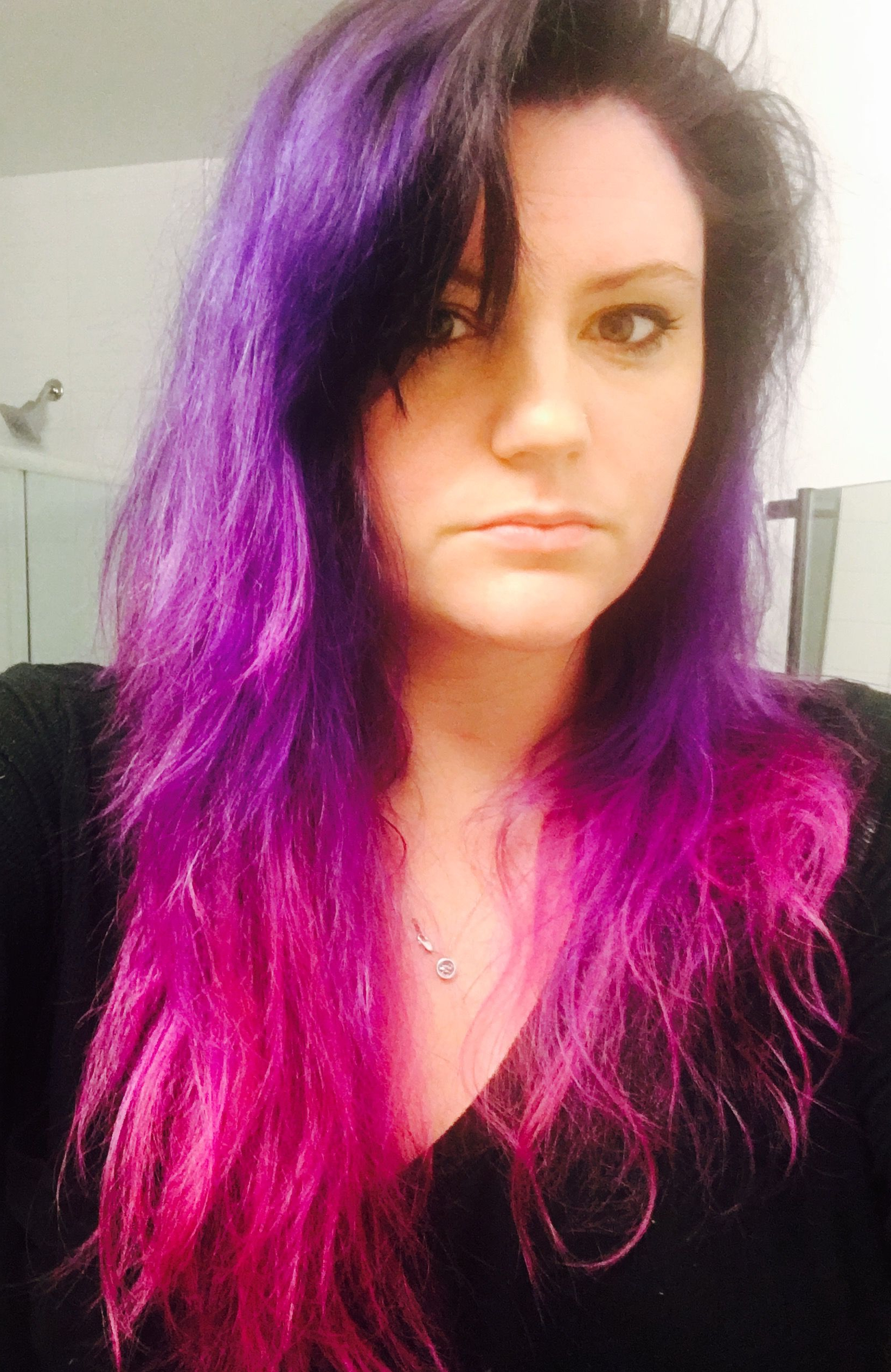 Purple Ombré Using Manic Panic Purple Haze And Hot Hot Pink | Hair Within Purple Haze Hairstyles (View 2 of 20)