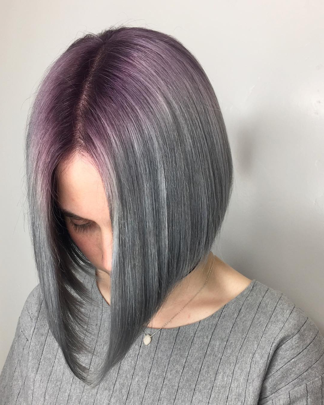 Purple Silver Bob – European Hair – @isaac4mayor – Stylebite With Silver Bob Hairstyles With Hint Of Purple (View 10 of 20)