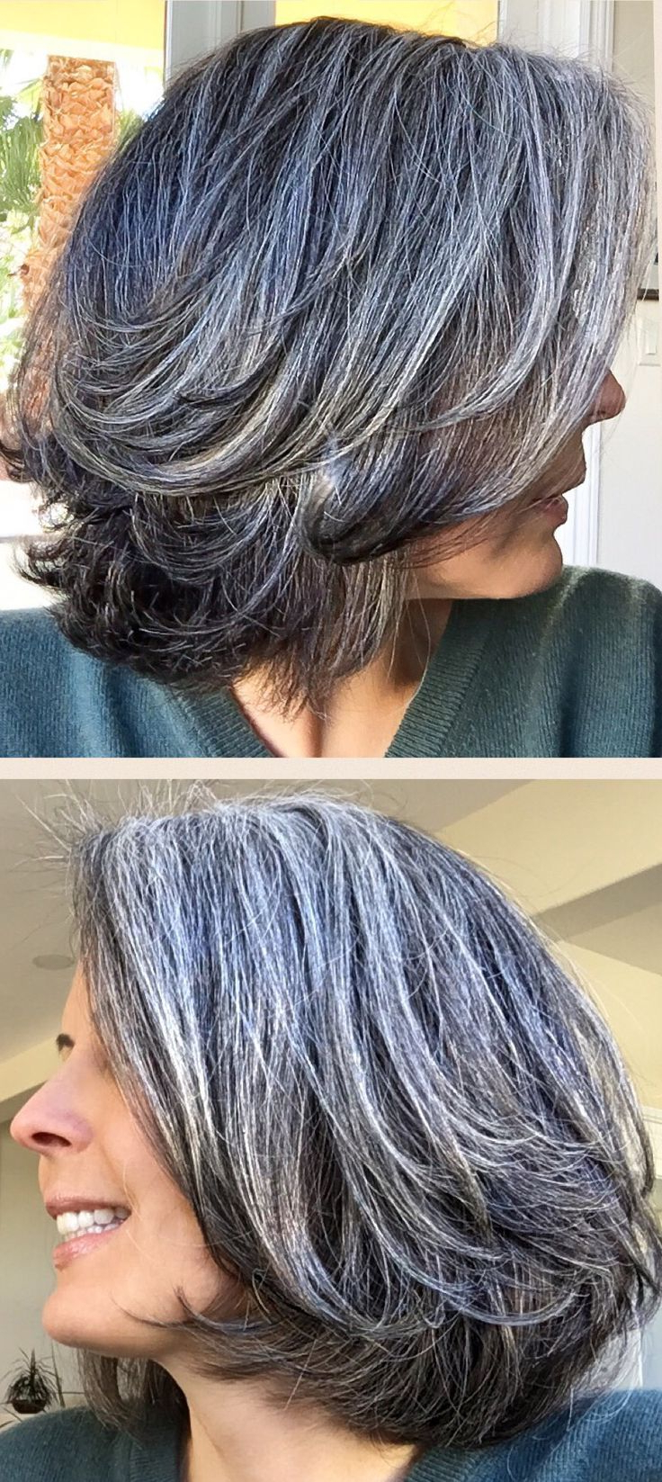 Resultado De Imagen De Salt And Pepper Hair Women | Hair In 2018 With Layered Tousled Salt And Pepper Bob Hairstyles (Gallery 7 of 20)