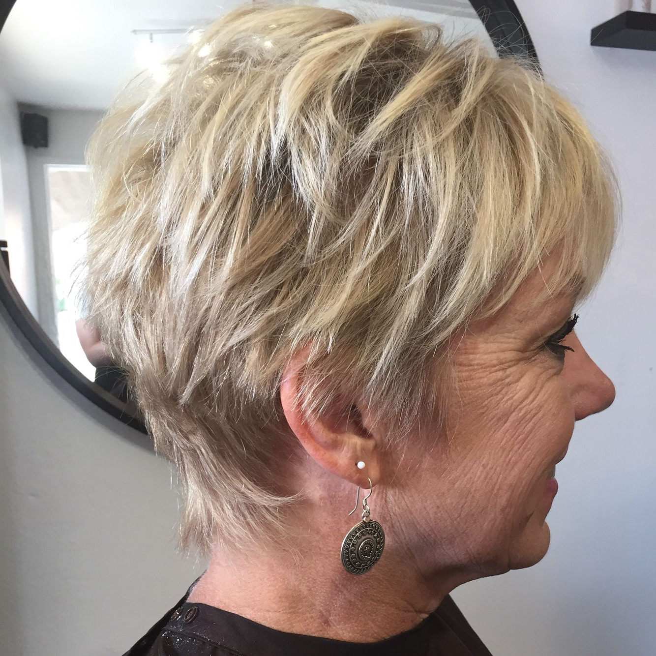 Short Blonde Pixie Cut, Short Hair With Highlights, Short Hair With Pertaining To Short Ruffled Hairstyles With Blonde Highlights (Gallery 3 of 20)