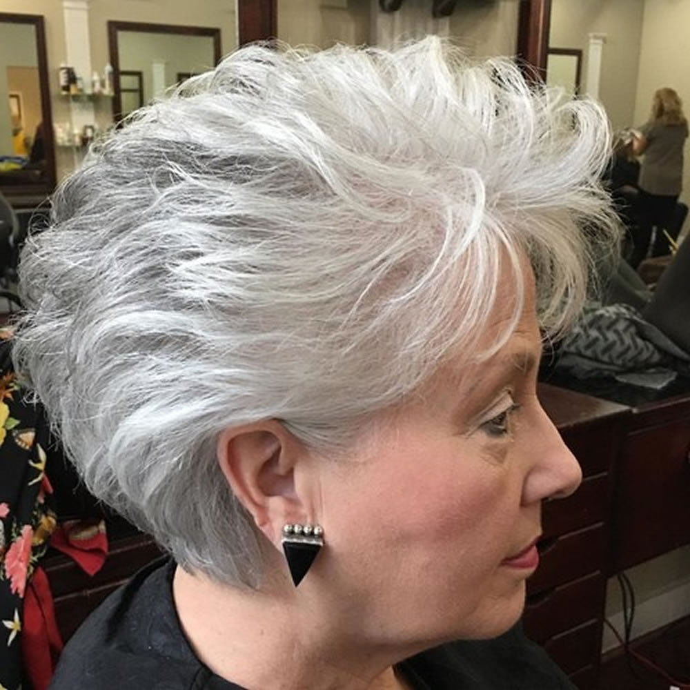 Short Gray Hairstyles For Older Women Over 50 – Gray Hair Colors For Gray Pixie Hairstyles For Over (View 10 of 20)