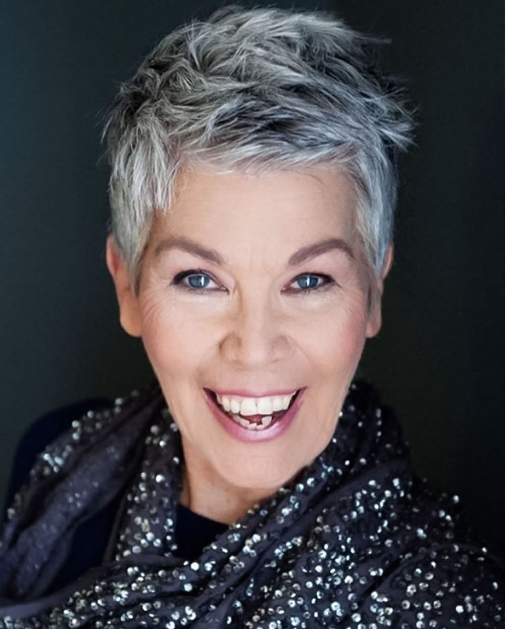 Short Gray Hairstyles For Older Women Over 50 – Gray Hair Colors With Gray Pixie Hairstyles For Over (View 18 of 20)
