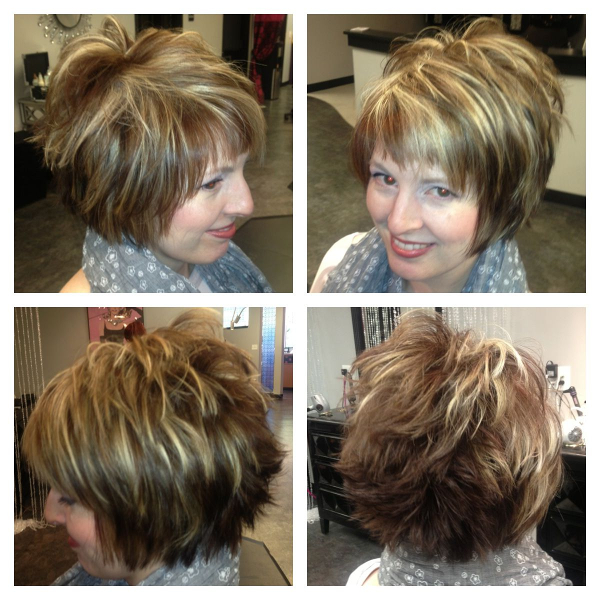 Short Hair Cut With Chunky Highlights Love This Style But Would Wear With Messy Pixie Hairstyles With Chunky Highlights (View 19 of 20)