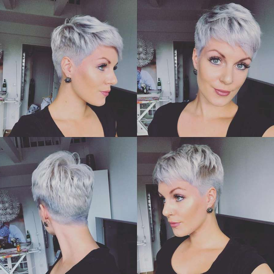 Short Hairstyle 2018 – 155 | Hairstyle Change In 2018 | Pinterest Pertaining To Gray Pixie Hairstyles For Thick Hair (View 18 of 20)