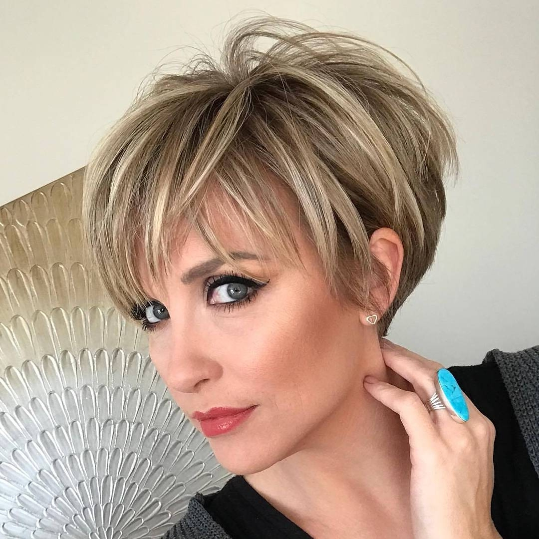 Short Hairstyle : View Gallery Of Short Blonde Pixie Hairstyles Pertaining To Pixie Bob Hairstyles With Blonde Babylights (View 14 of 20)
