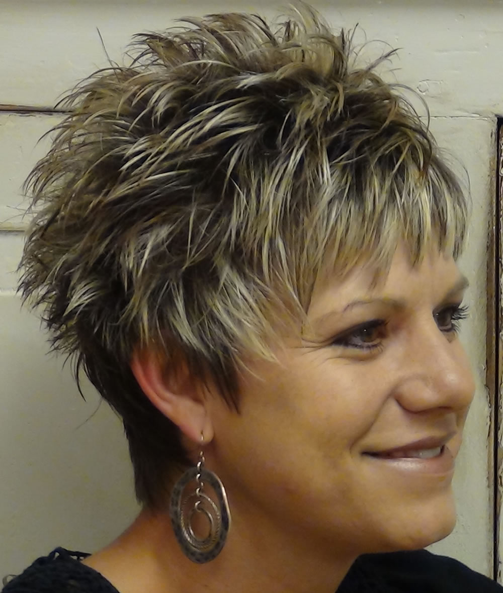 Short Spiky Haircuts & Hairstyles For Women 2018 – Page 7 – Hairstyles In Spiky Gray Pixie Haircuts (View 14 of 20)