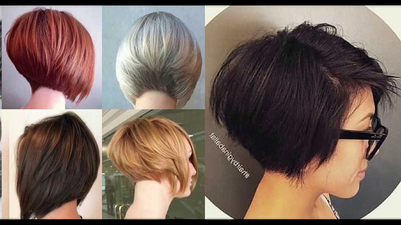 Short Stacked Layered Bob Haircut – Youtube In Rounded Bob Hairstyles With Stacked Nape (Gallery 8 of 20)