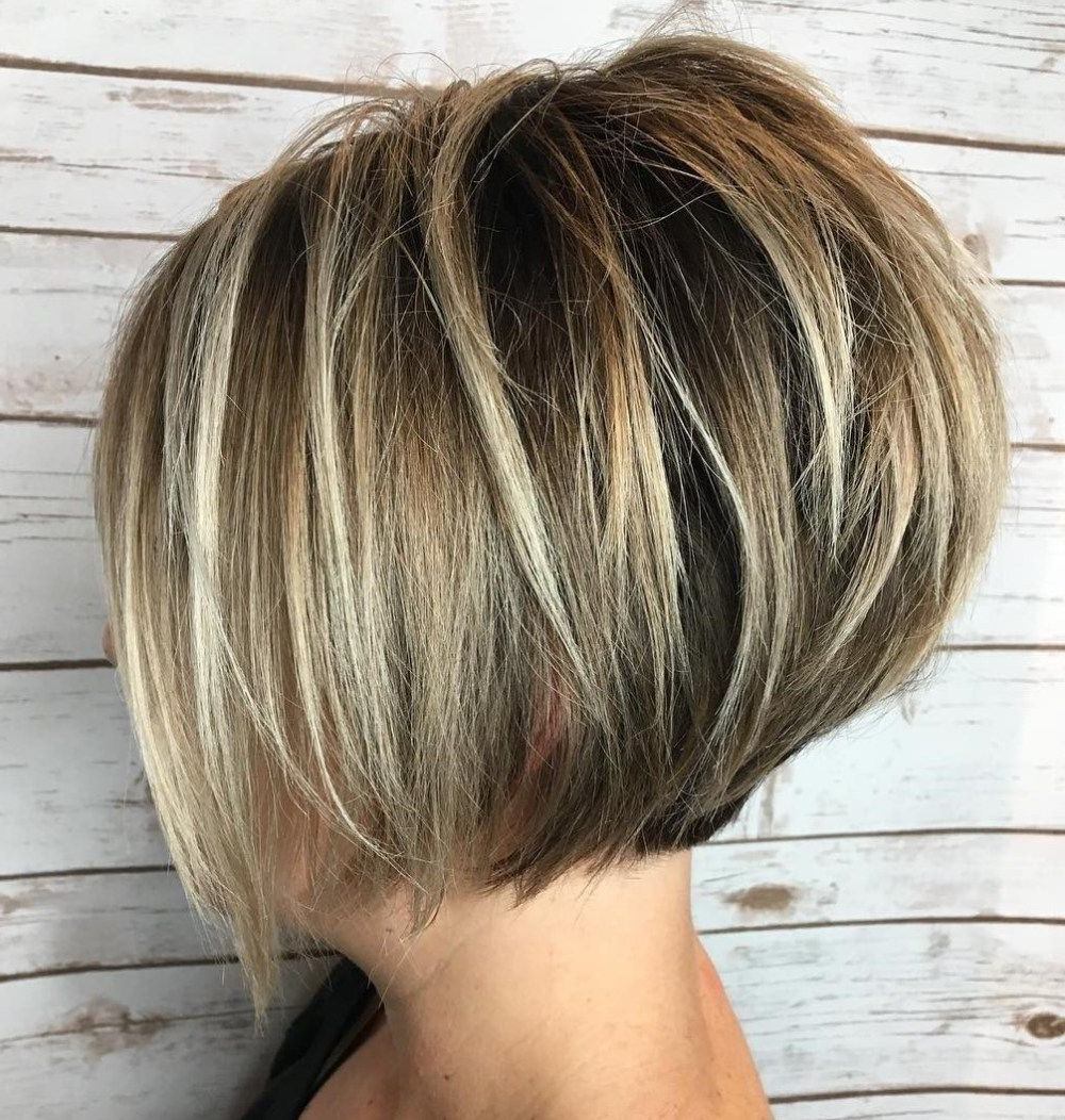Short+Layered+Bob+With+Blonde+Highlights | Acj In 2018 | Pinterest Pertaining To Short Ruffled Hairstyles With Blonde Highlights (Gallery 20 of 20)