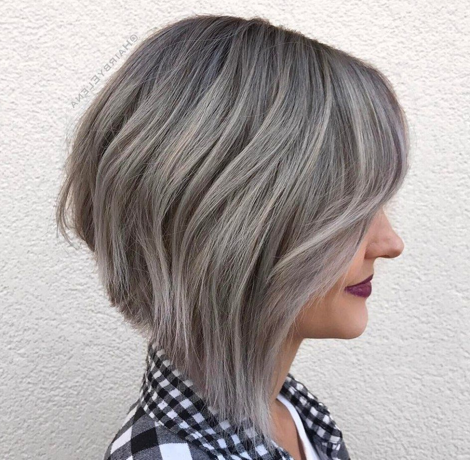 Silver+Balayage+Layered+Bob | Hair | Pinterest | Layered Bobs Inside Wispy Silver Bob Hairstyles (View 19 of 20)