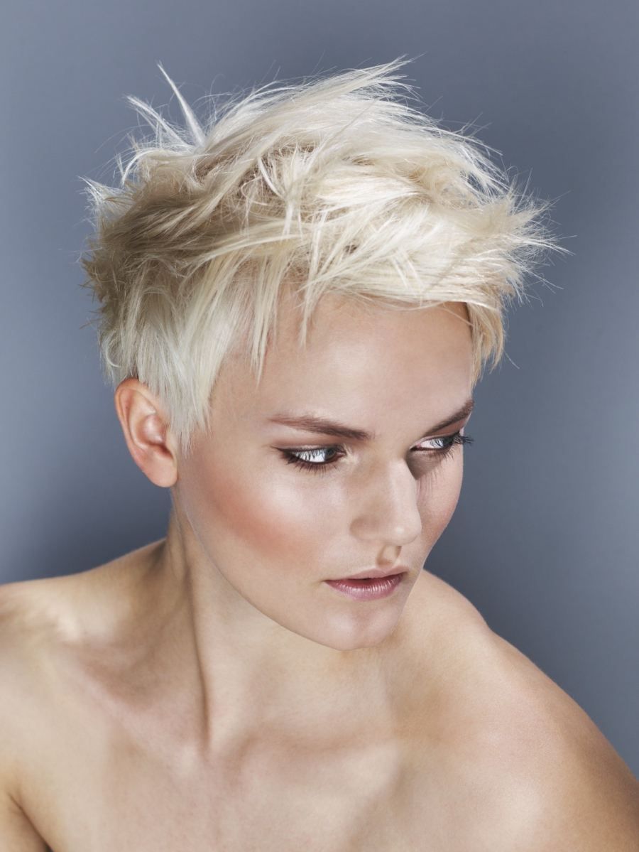 Spiky Short Blond – Women Hairstyle | Hairstyles | Hair Photo Inside Two Tone Spiky Short Haircuts (View 16 of 20)
