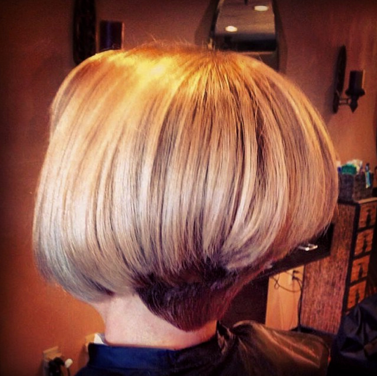 Stacked Blonde Bob With Dark Nape | My Style | Pinterest | Hair Throughout Rounded Bob Hairstyles With Stacked Nape (View 17 of 20)