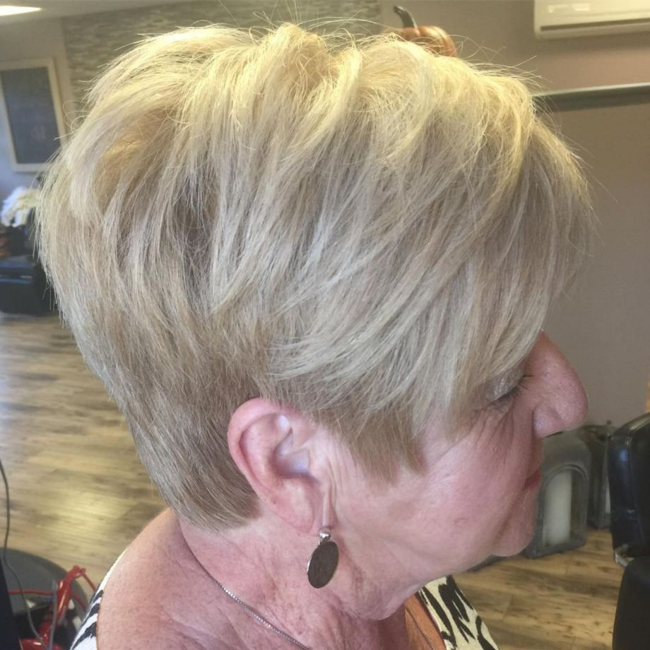 The Best Hairstyles And Haircuts For Women Over 70 | Beauty Beyond Inside Airy Gray Pixie Hairstyles With Lots Of Layers (View 8 of 20)