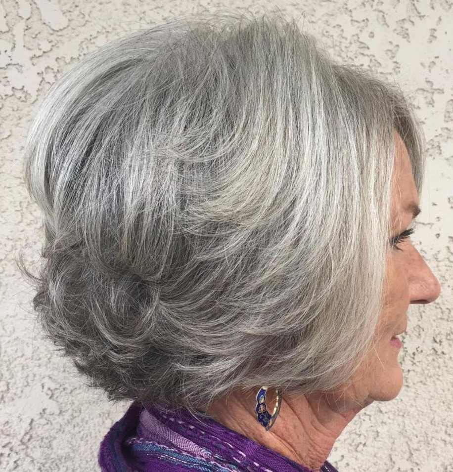 The Best Hairstyles And Haircuts For Women Over 70 In 2018 | My With Layered Tousled Salt And Pepper Bob Hairstyles (View 4 of 20)