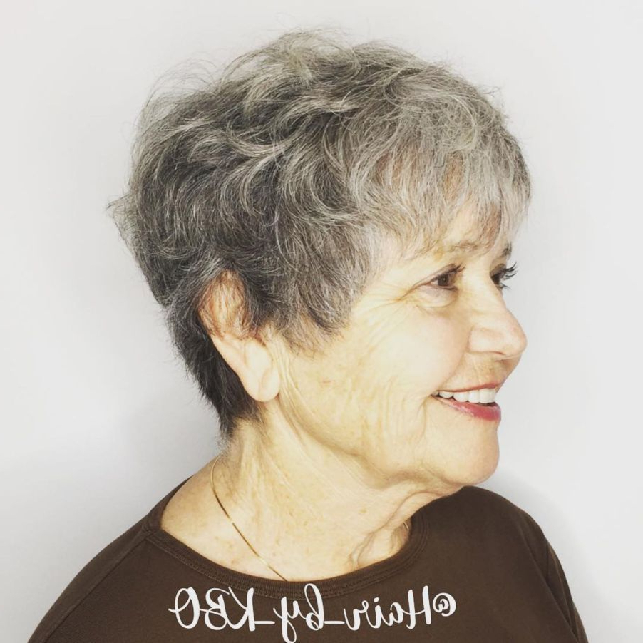 The Best Hairstyles And Haircuts For Women Over 70 | New Haircut Pertaining To Messy Salt And Pepper Pixie Hairstyles (View 10 of 20)