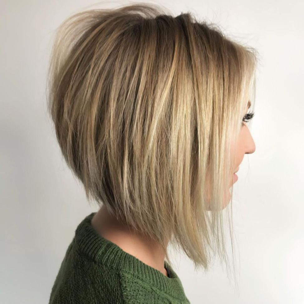 The Full Stack: 50 Hottest Stacked Haircuts In 2018 | Hair Inside Wispy Silver Bob Hairstyles (View 20 of 20)