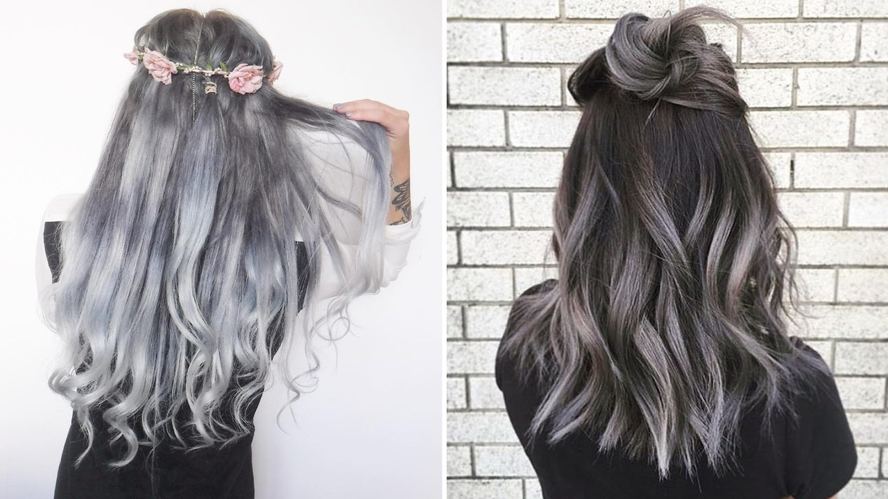 The Gray Hair Trend: 32 Instagram Worthy Gray Ombré Hairstyles – Allure Throughout Silver Bob Hairstyles With Hint Of Purple (View 17 of 20)