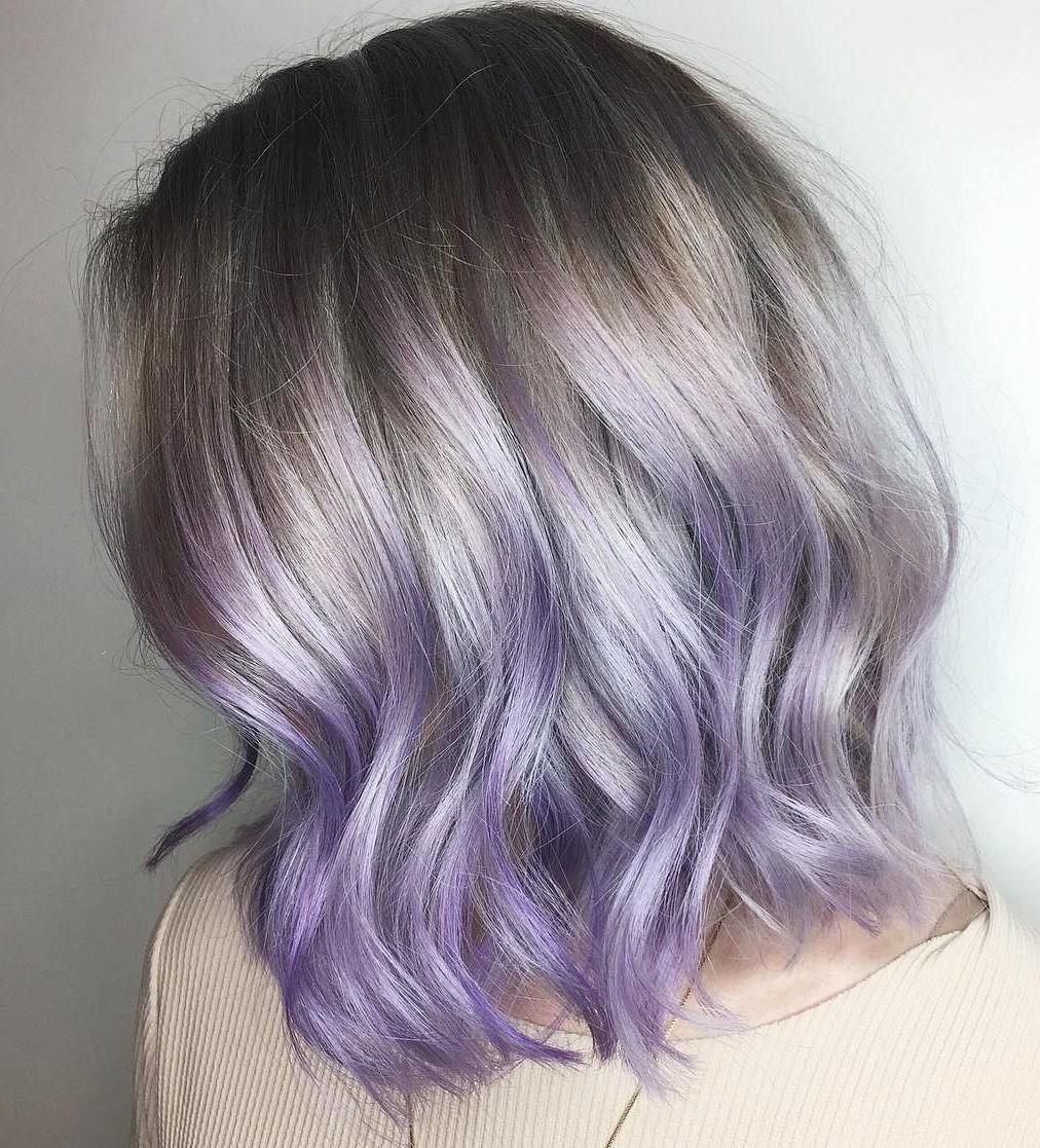 The Prettiest Pastel Purple Hair Ideas In 2018 | Hair: Spring/summer Regarding Silver Bob Hairstyles With Hint Of Purple (View 17 of 20)
