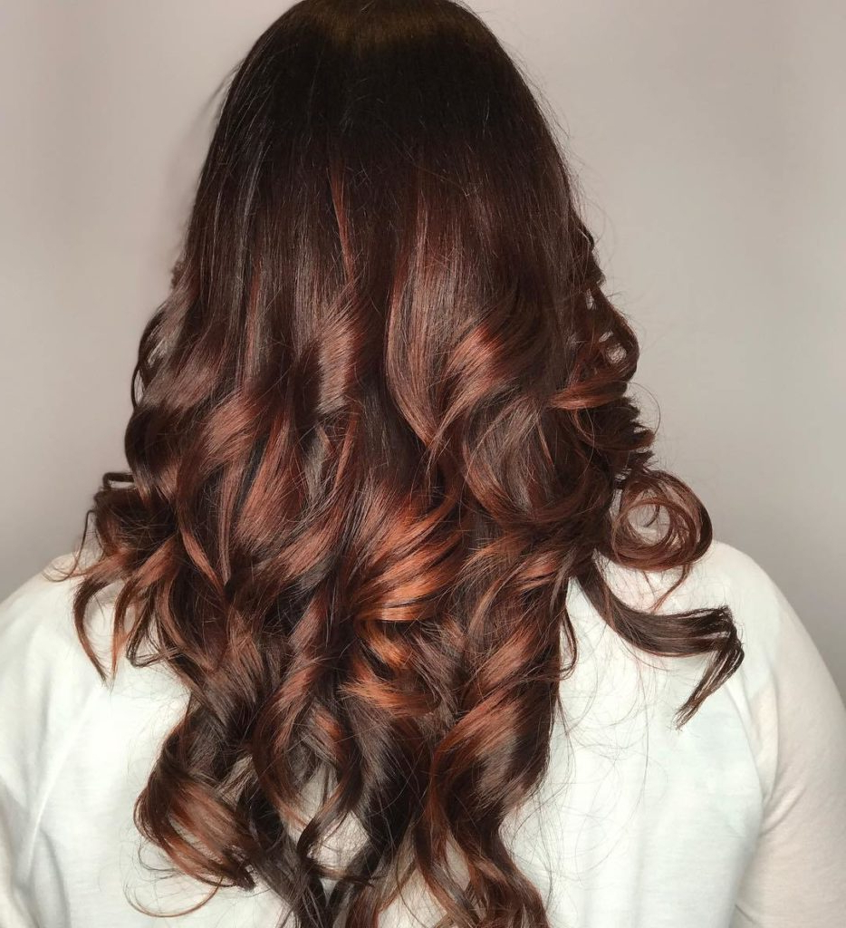 Top Balayage Hairstyles For Black Hair For Soft Auburn Look Hairstyles (View 14 of 20)
