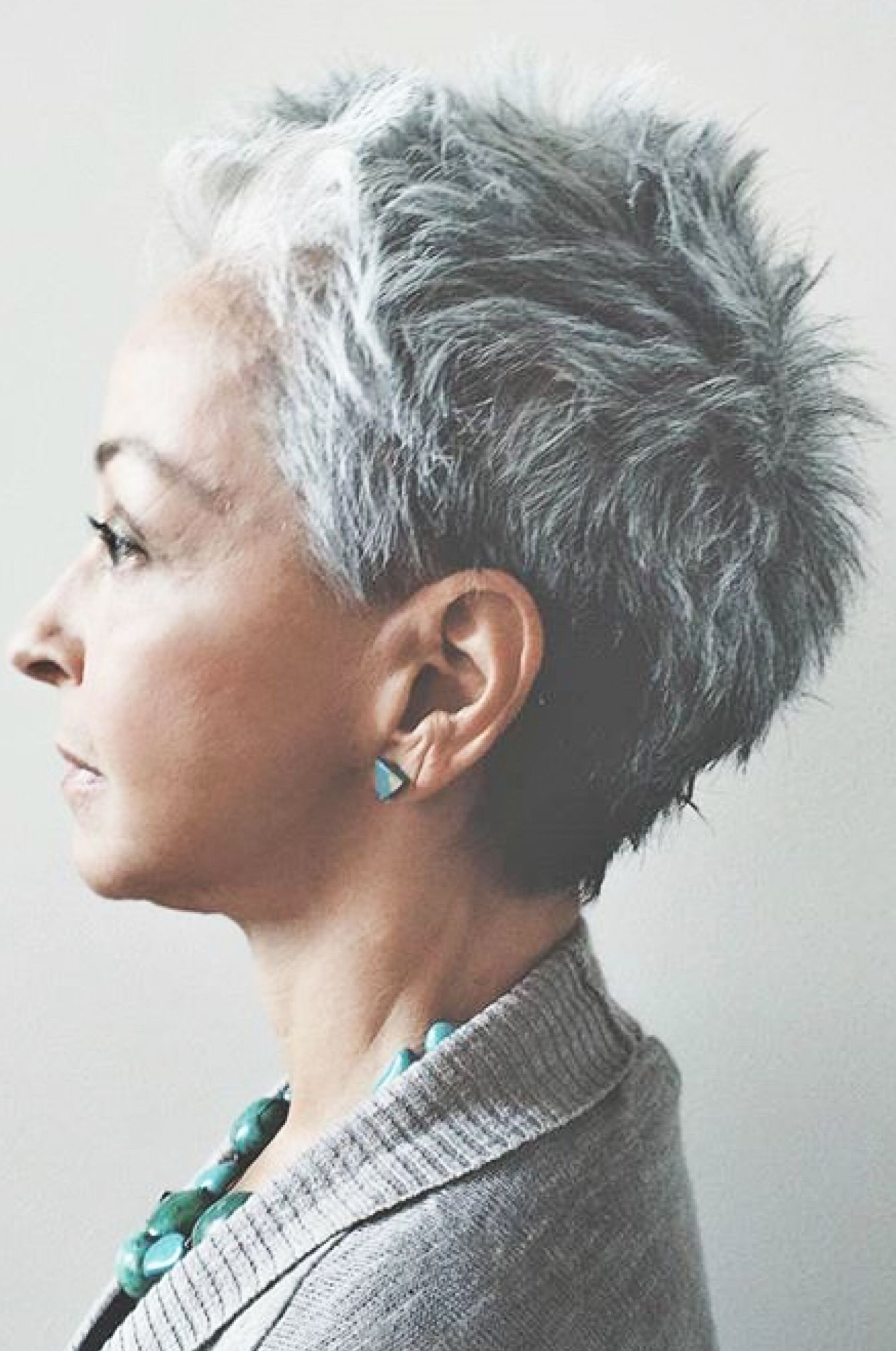 Transitioning Series 4: How To Do A Straw Set? | Beauty | Pinterest Throughout Messy Salt And Pepper Pixie Hairstyles (View 12 of 20)