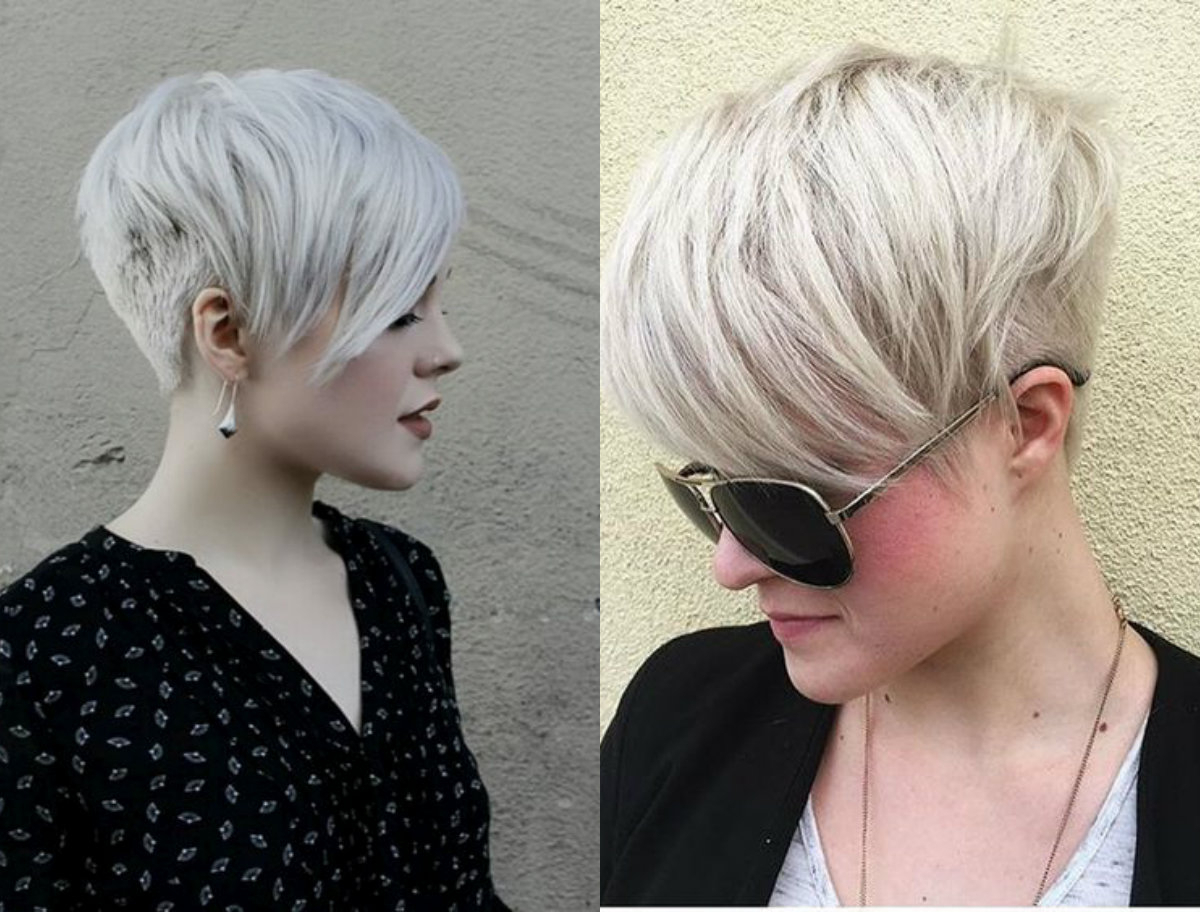 Very Short Pixie Haircut New Short Blonde Hairstyles Short Throughout Asymmetrical Silver Pixie Hairstyles (Gallery 13 of 20)