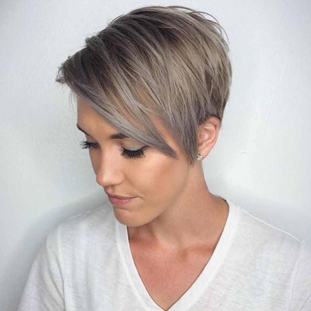 Winter Fit: Extravagant Silver Pixie Haircuts | Hairdrome Intended For Pixie Bob Hairstyles With Blonde Babylights (View 18 of 20)