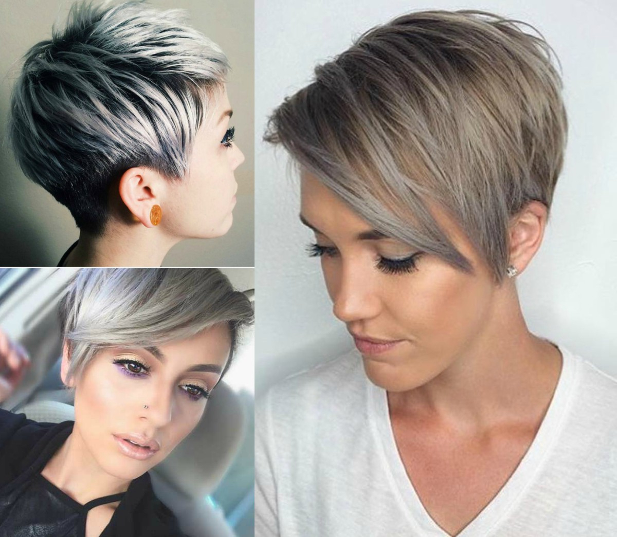 Winter Fit: Extravagant Silver Pixie Haircuts | Hairdrome Regarding Textured Pixie Hairstyles With Highlights (View 9 of 20)