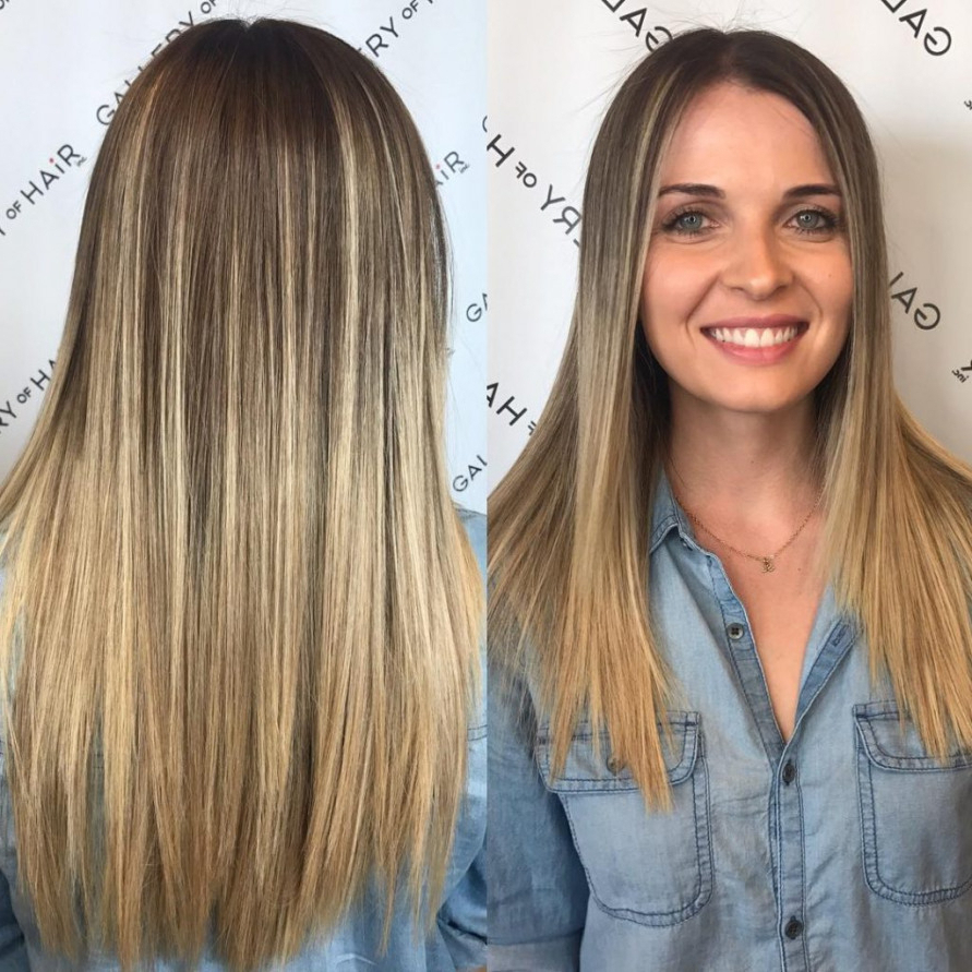 Women's Long Cut With Short Layers And Blonde Ombre Long Hairstyle Within Short Layered Blonde Hairstyles (View 16 of 20)