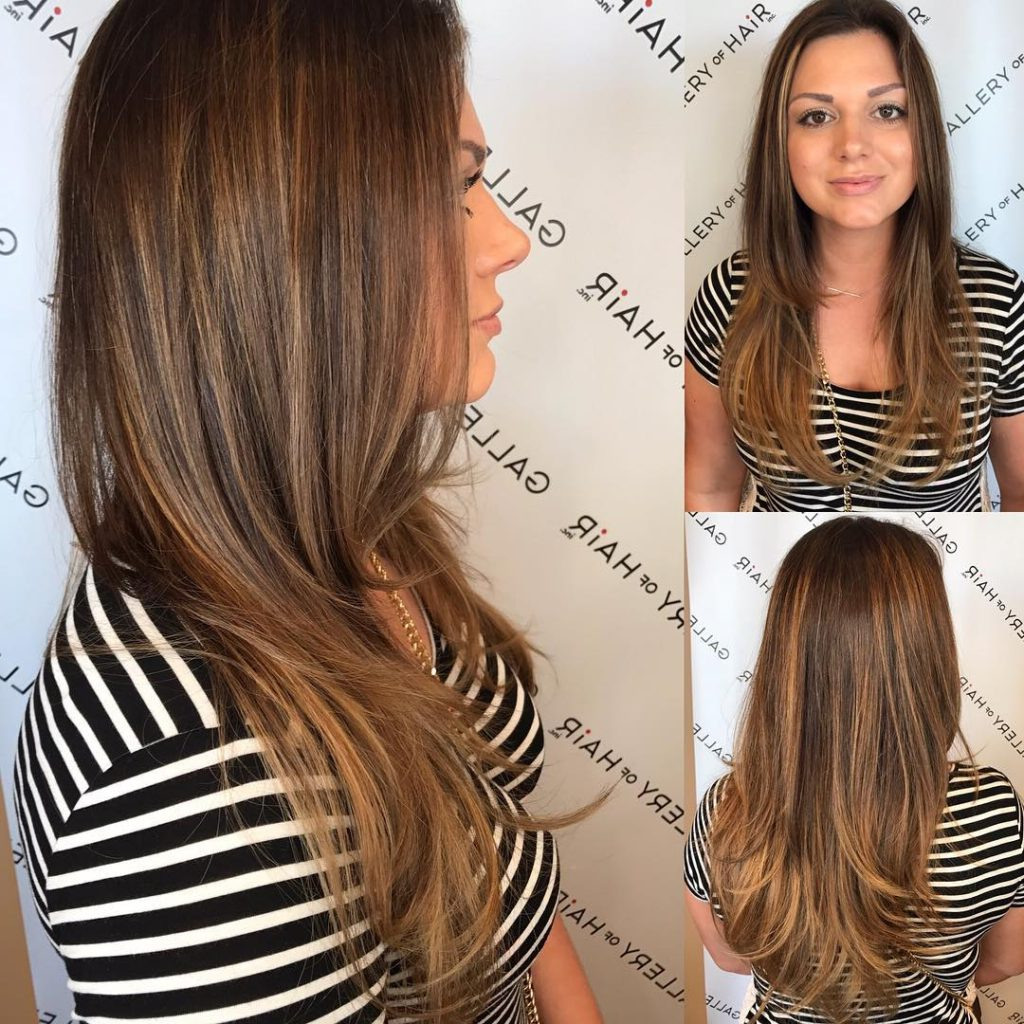 Women's Long Layered Blowout With Soft Bronde Balayage Long Hairstyle Pertaining To Perfect Blow Out Hairstyles (View 6 of 20)