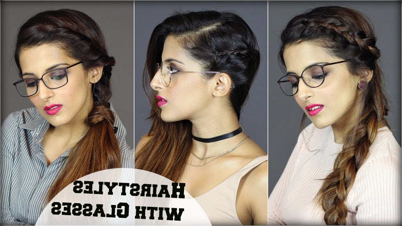 1 Min Easy Everyday Hairstyles For People With Glasses For School For Most Recent Medium Haircuts For Girls With Glasses (Gallery 11 of 20)