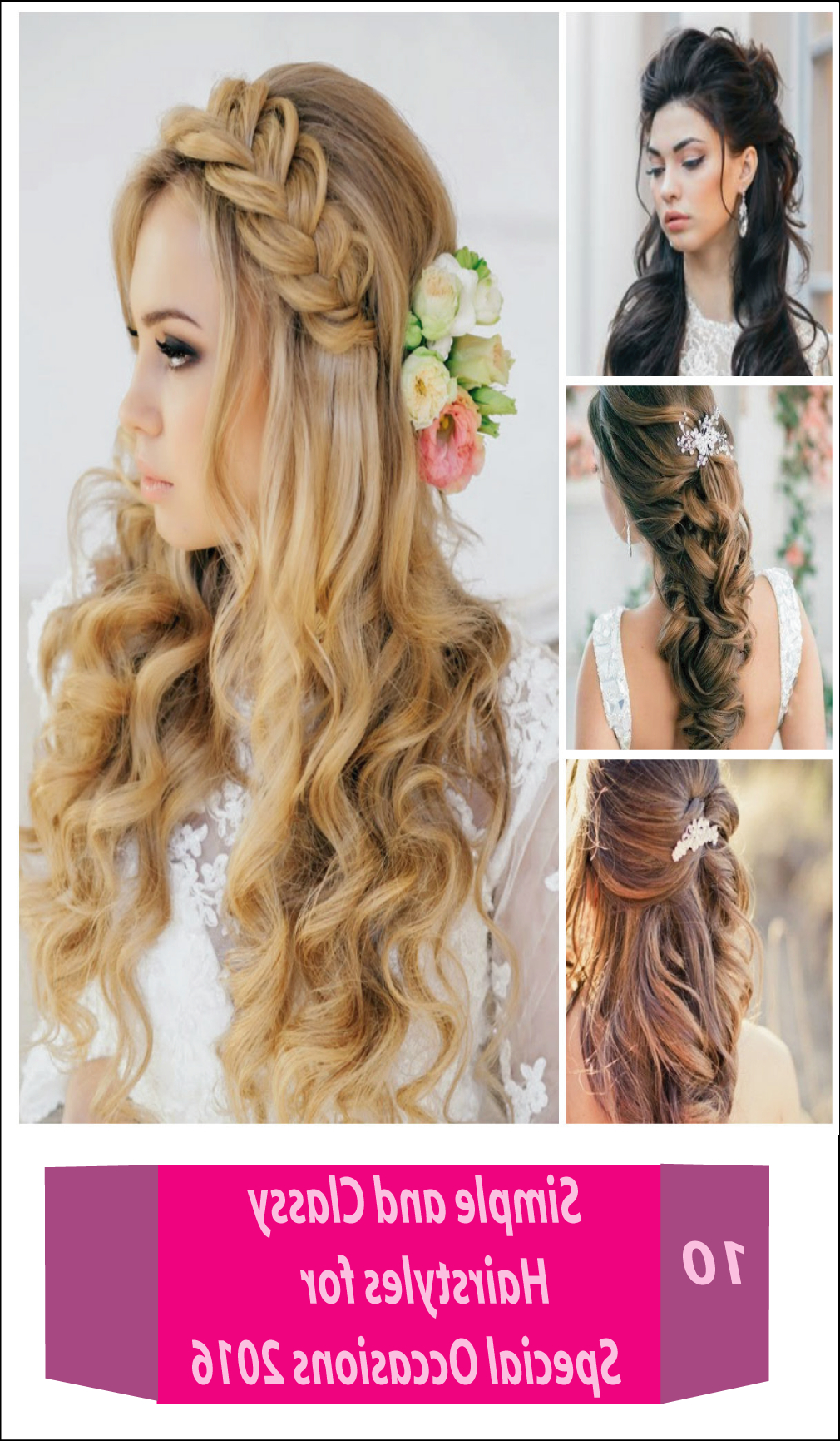 10 Easy And Simple Classy Hairstyles For Special Occasions Pertaining To Well Known Medium Hairstyles For Special Occasions (Gallery 6 of 20)