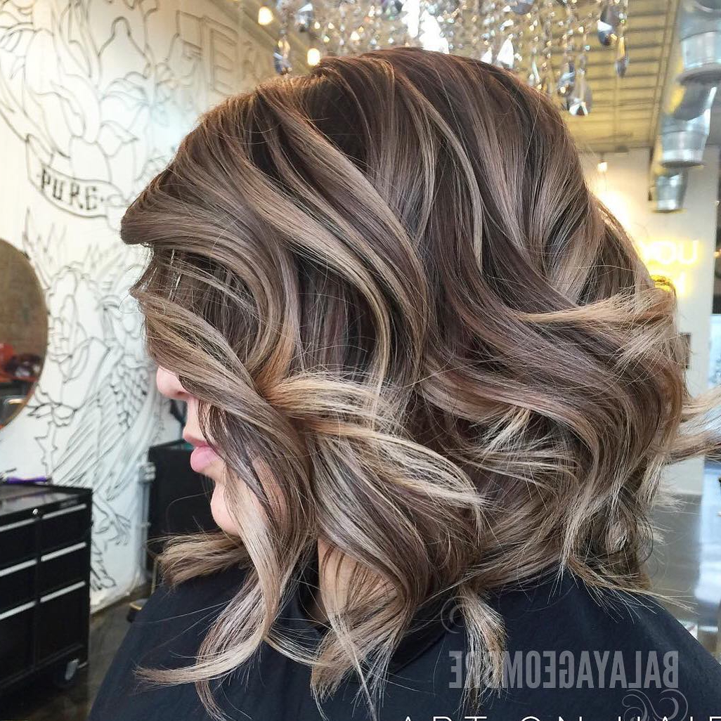 10 Medium Layered Hairstyles In Beige, Brown & Ash Blonde Fashion In Fashionable Ash Blonde Medium Hairstyles (Gallery 17 of 20)