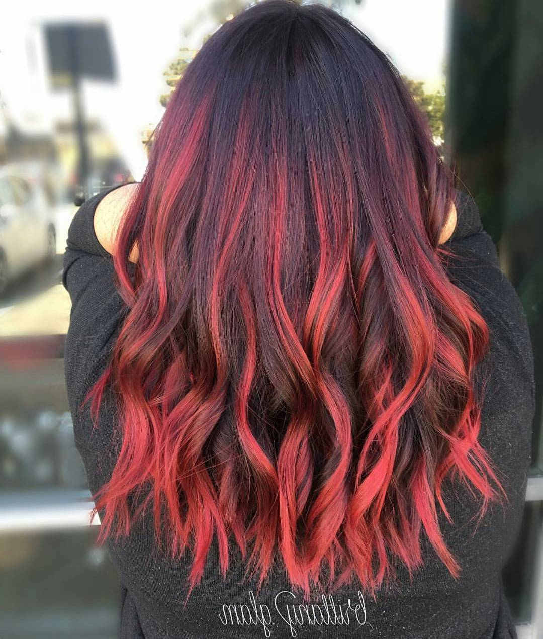 Featured Photo of Red And Black Medium Hairstyles