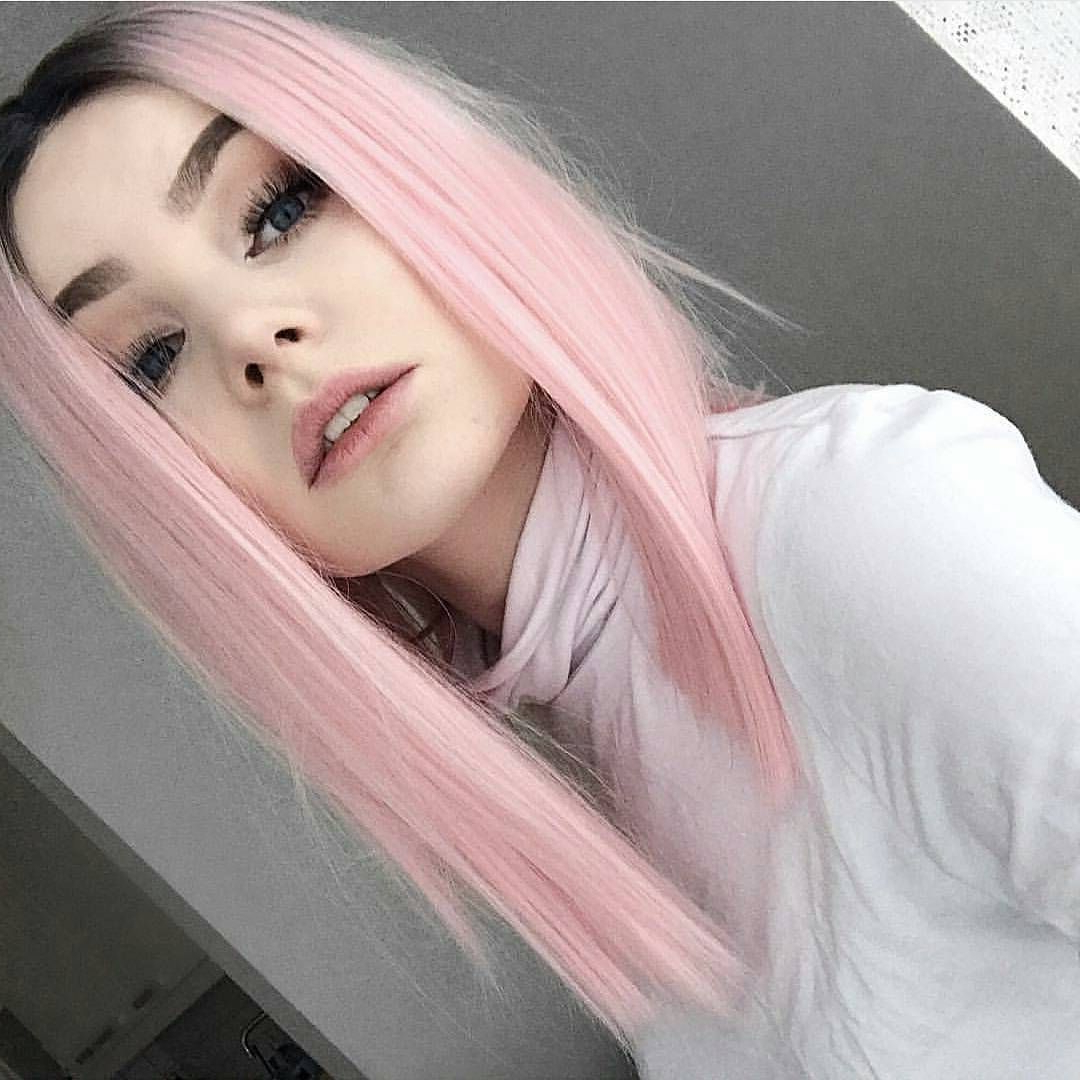 10 Medium Length Hairstyles For Thick Hair In Super Sexy Colors Within Well Known Pink Medium Hairstyles (View 2 of 20)