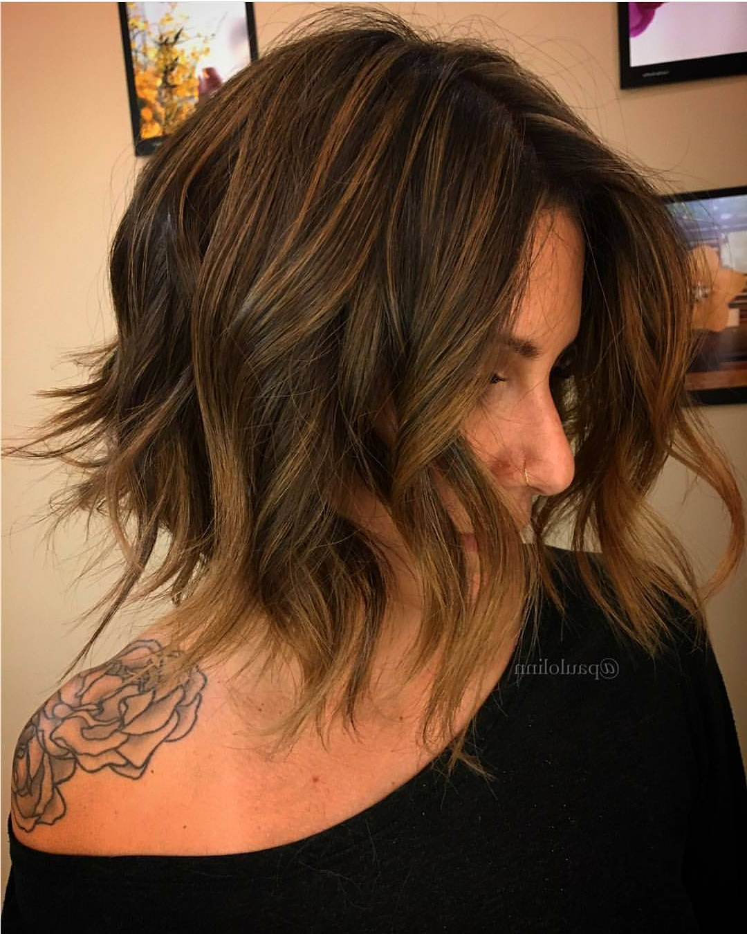 10 Wavy Lob Hair Styles – Color & Styling Trends Right Now! With Regard To Latest Feathered Brunette Lob Haircuts (Gallery 6 of 20)