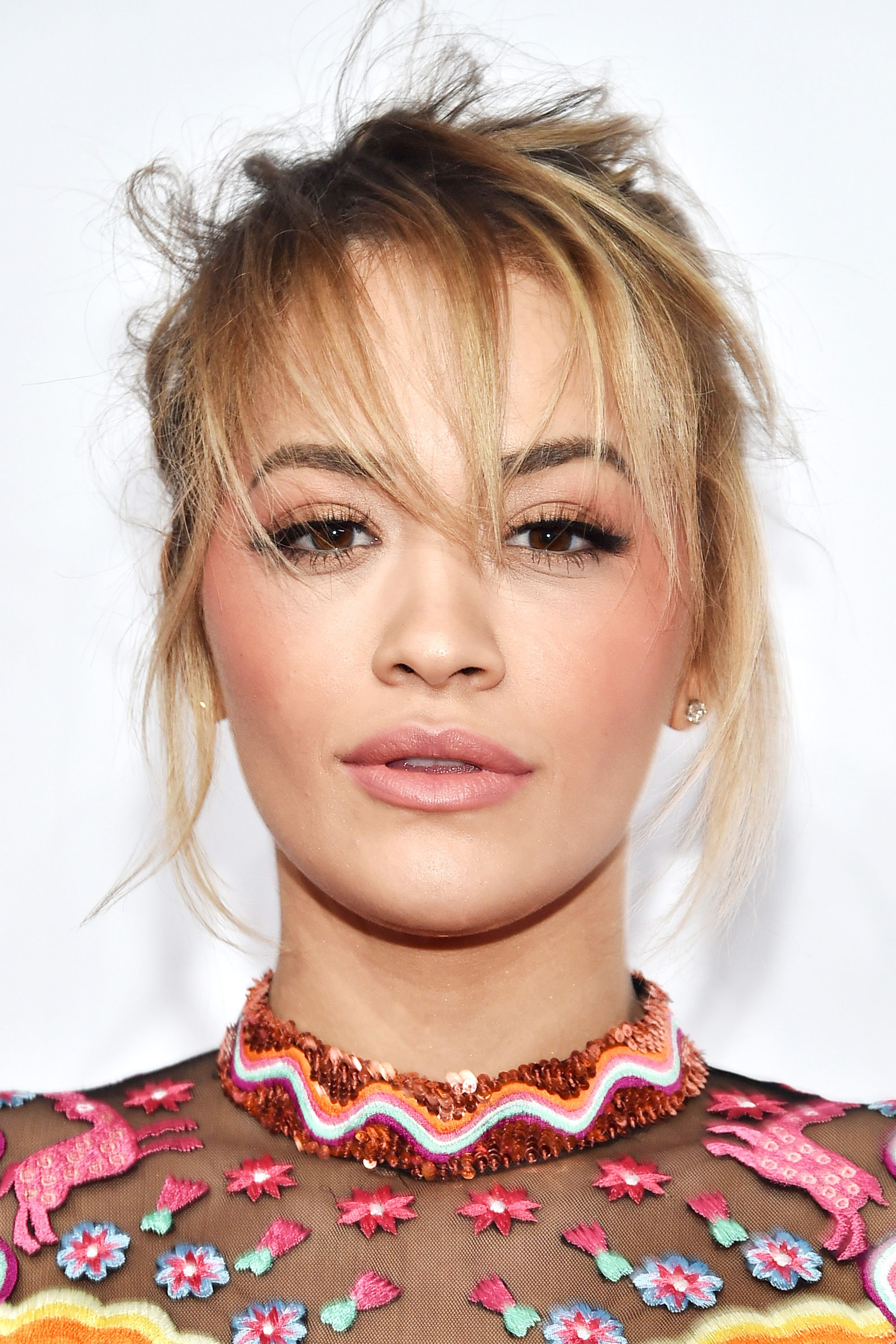 112 Hairstyles With Bangs You'll Want To Copy – Celebrity Haircuts Pertaining To Most Recently Released Rita Ora Medium Hairstyles (View 2 of 20)
