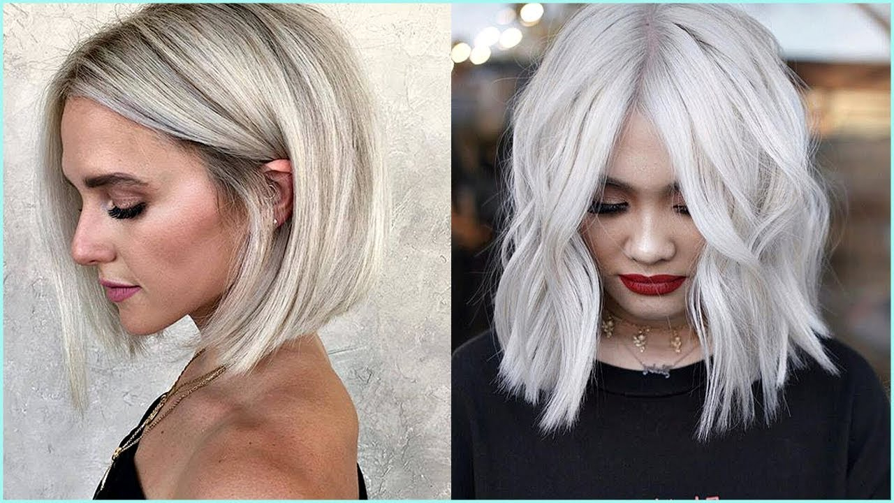 12 Beautiful Short And Medium Haircuts For Women 😍 Professional In Most Current Medium Haircuts For Grey Haired Woman (Gallery 6 of 20)