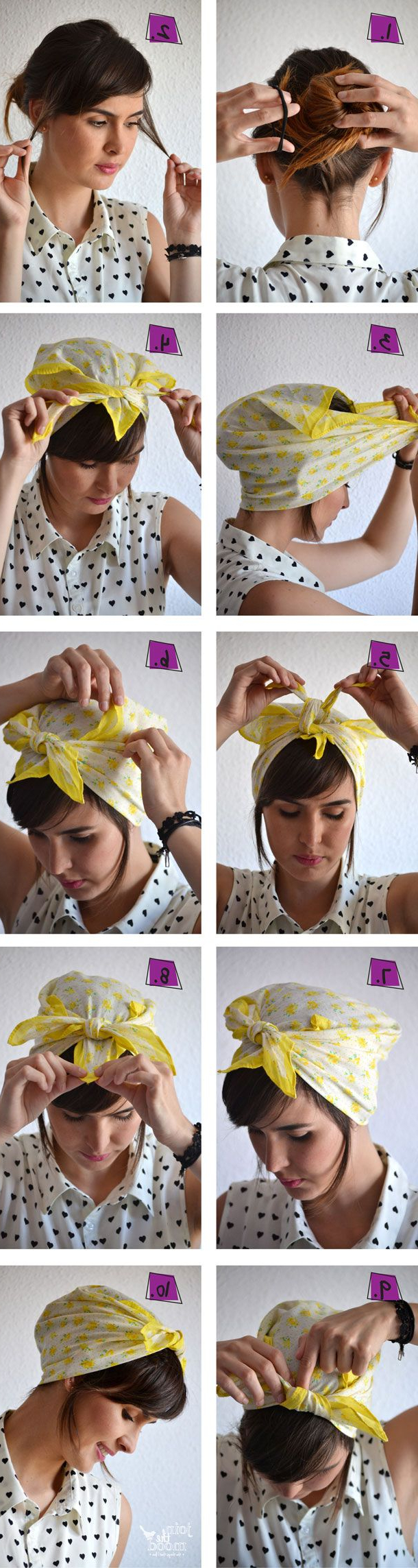 14 Tutorials For Bandana Hairstyles – Pretty Designs In Preferred Medium Hairstyles With Bandanas (View 2 of 20)