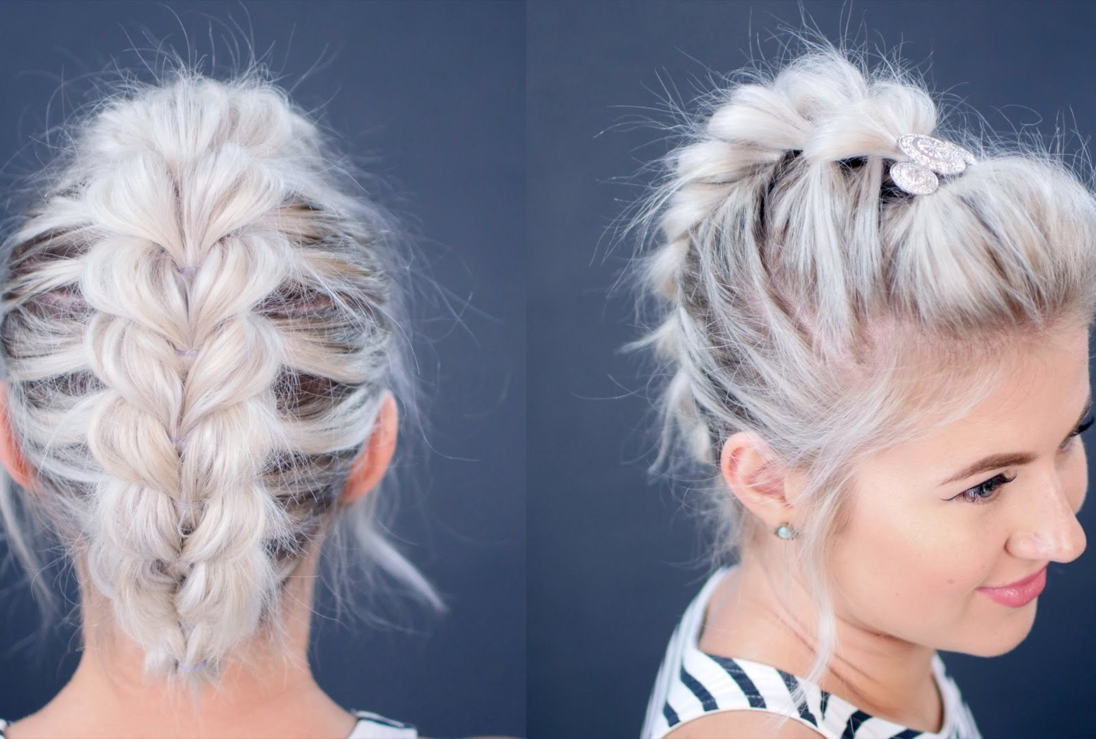 17 Fabulous Faux Hawk Hairstyle Tutorials With 2017 French Braid Pinup Faux Hawk Hairstyles (Gallery 14 of 20)